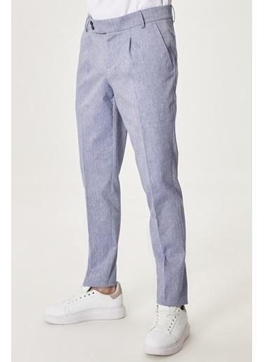 AC&Co / Altınyıldız Classics Slim Fit Dar Kesim Yan Cep Casual Pantolon 4A0121200034 Mavi